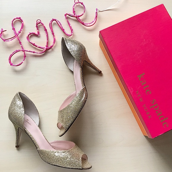 bc1c7746aef9 Kate spade new york sage gold starlight heels